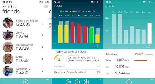Fitbit app windows phone