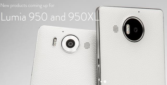 Mozo metal back white lumia 950 xl