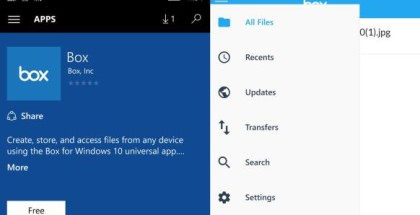 Box app for WIndows 10 Mobile