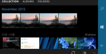 Photos windows 10 mobile app