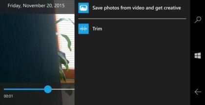 Photos video trimming app