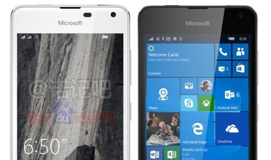 Lumia 650 in white and black