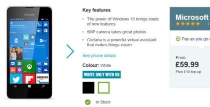 Lumia 550 carphone warehouse