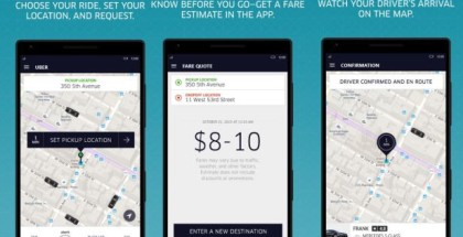 Uber app for WIndows 10 mobile