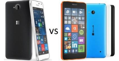 Lumia 650 versus Lumia 640 Microsoft