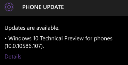 Insider Preview build 10586.107