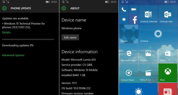 10586.212 windows 10 mobile update