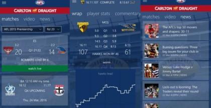 AFL Live app windows 10 mobile