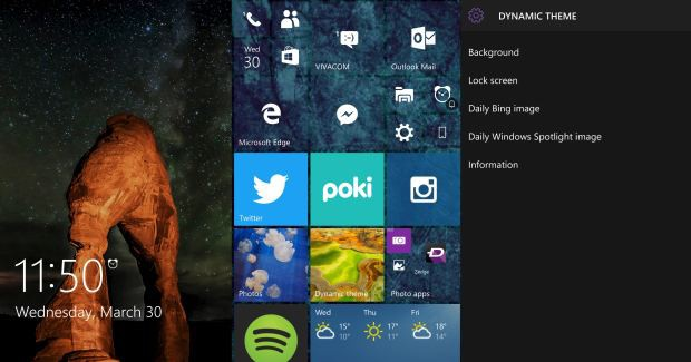 lock screen start dynamic theme