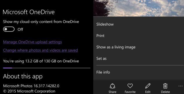 Microsoft Photos OneDrive app