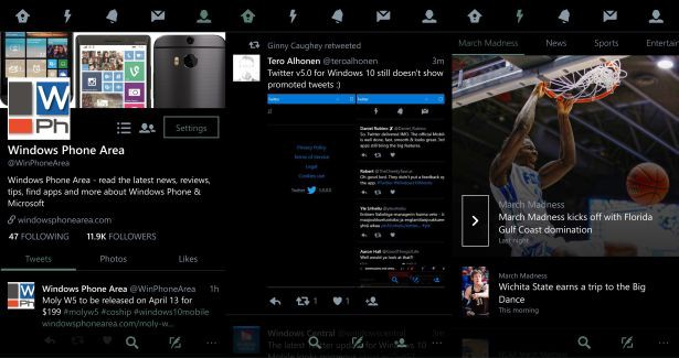Twitter for Windows 10 Mobile ver 5.0