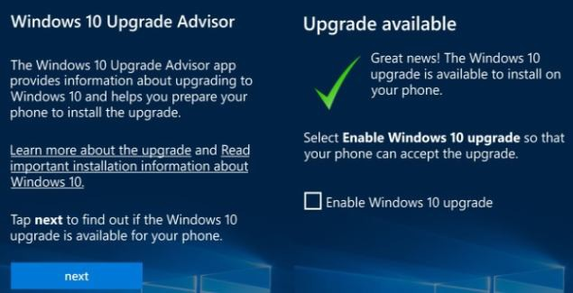 List with phones that officially support Windows 10 Mobile