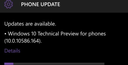 Windows 10 Mobile 10586.164