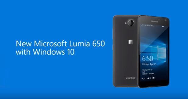 Lumia 650 for Cricket