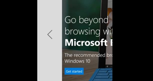 Swiping between webpages coming to Microsoft Edge with the Redstone update