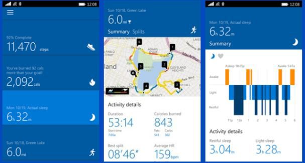 Microsoft Health app for PC and mobile
