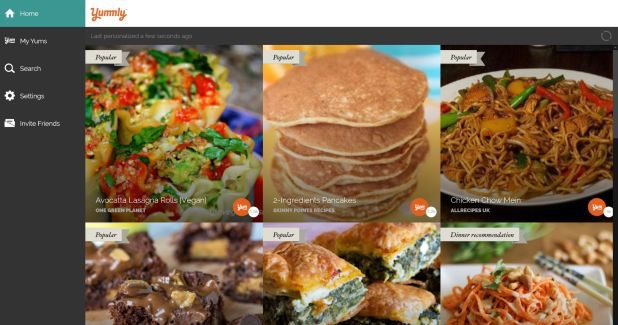 Yummly app for Windows 10