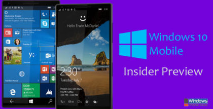 Windows 10 Mobile Insider Preview Build