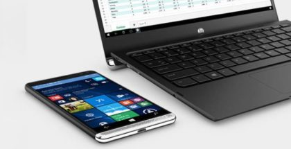 HP Elite x3 phone and laptop dock