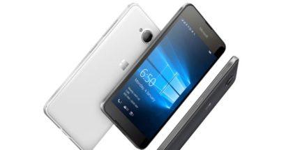 Lumia 650 white black