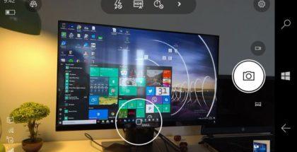 Windows Camera app interface live