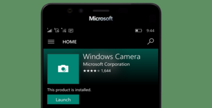 Windows Camera store app
