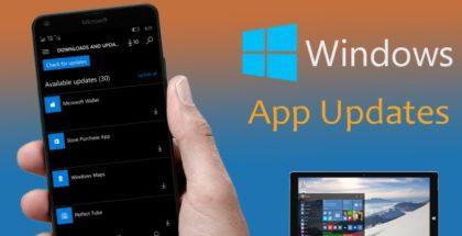 Windows Store app updates phone pc windows 10 mobile