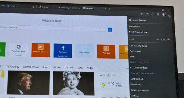Microsoft Edge PC Dell Windows 10