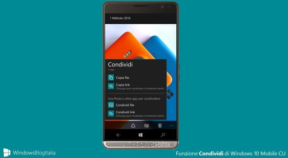 New Share UI to arrive soon in Windows 10 Mobile