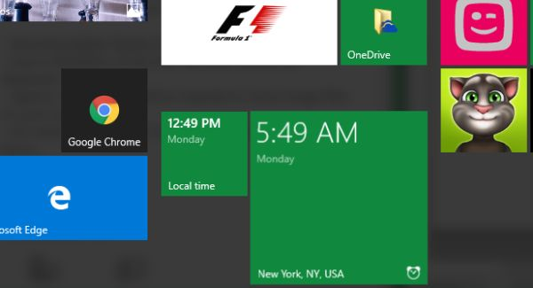 how to add live tile