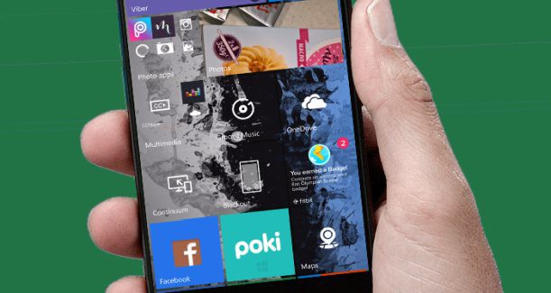 Windows 10 Mobile Start Lumia phone tiles