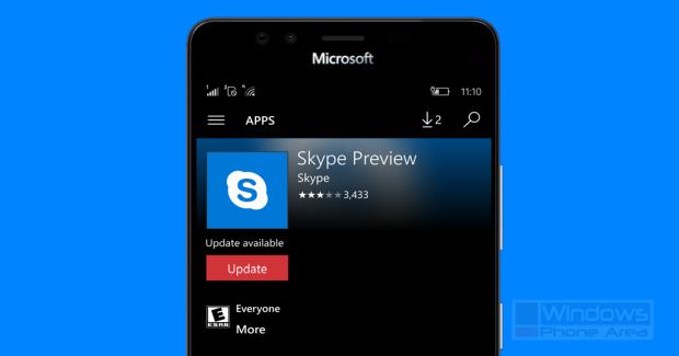 Skype Preview app update store