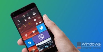 Windows 10 Mobile Lumia phone