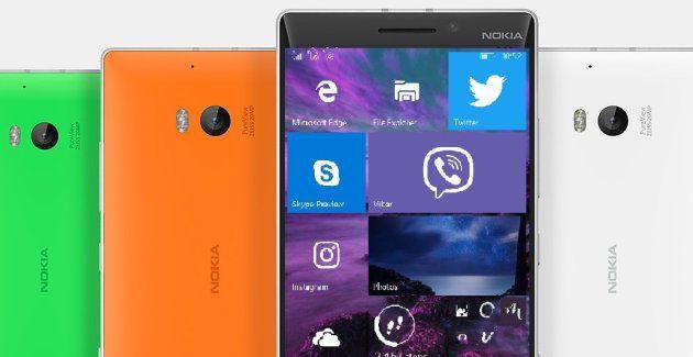 Windows 10 Mobile Nokia Lumia 930
