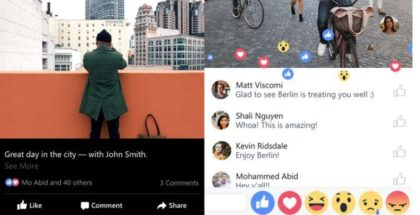 facebook beta reactions emoticons