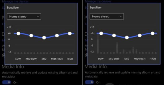 Equalizers tested for Groove Music on Windows phones