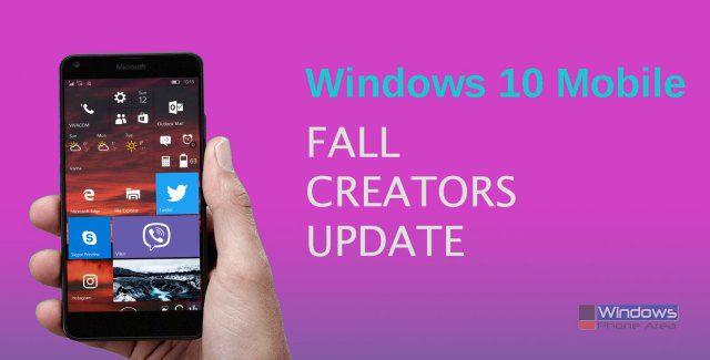 Windows 10 Mobile Fall Creators Update