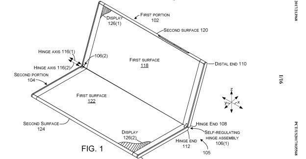 Recent Microsoft patent describes a hinged device that could be launched as Surface Journal