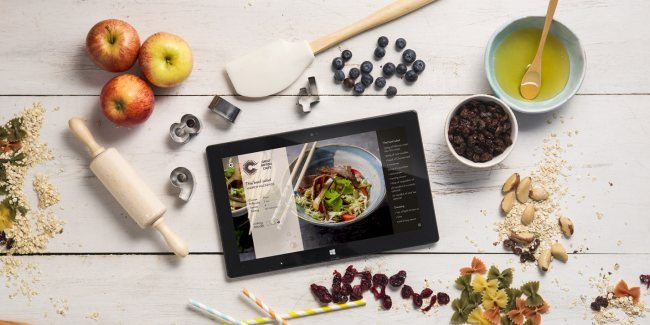 cooking app Surface tablet