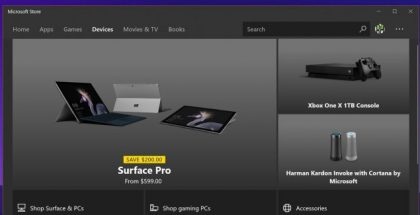 Microsoft Store app devices